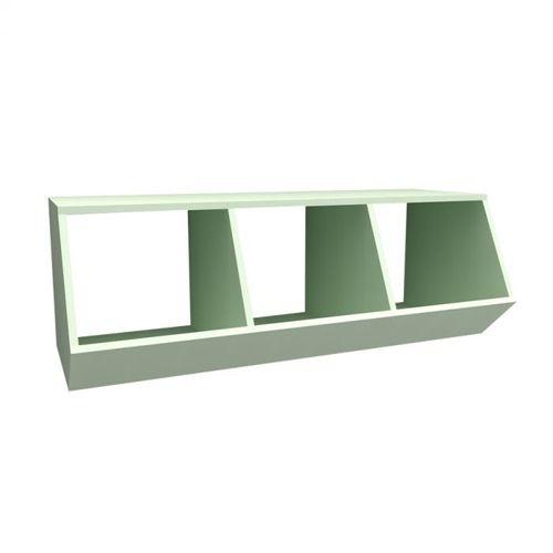 Nicho Montessoriano com 3 Espaços Viena Verde Claro