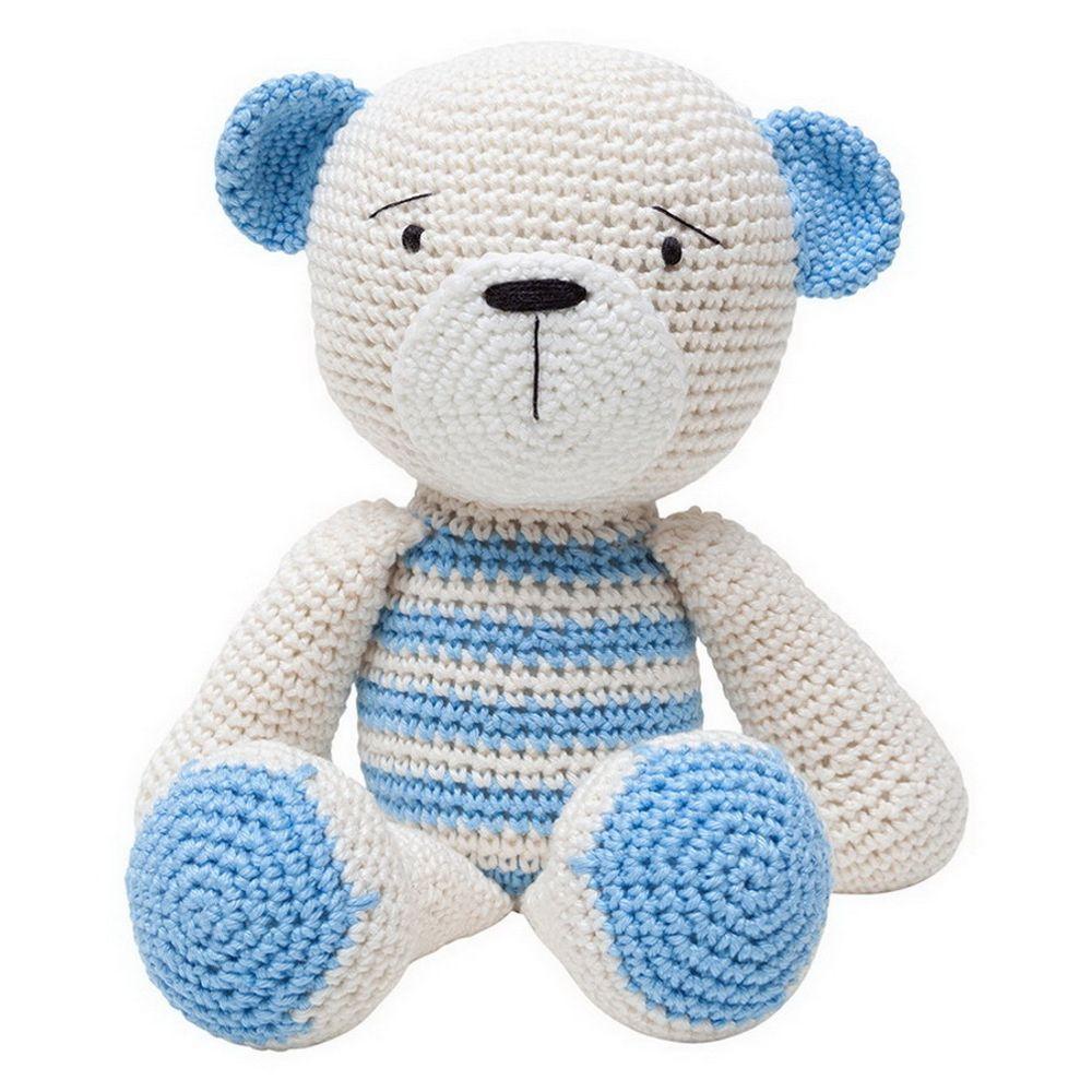 Ursinho amigurumi crochê laço no Elo7 | D'crochet (BCC757) | 1000x1000