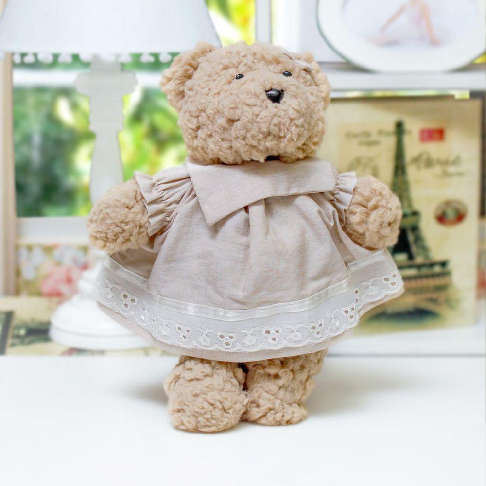 Ursa Lucy Pequena Bege Cru ambientada