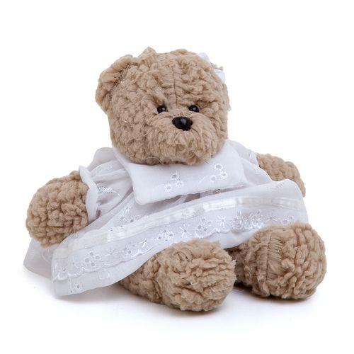 Ursa Lucy Pequena Bege Branco