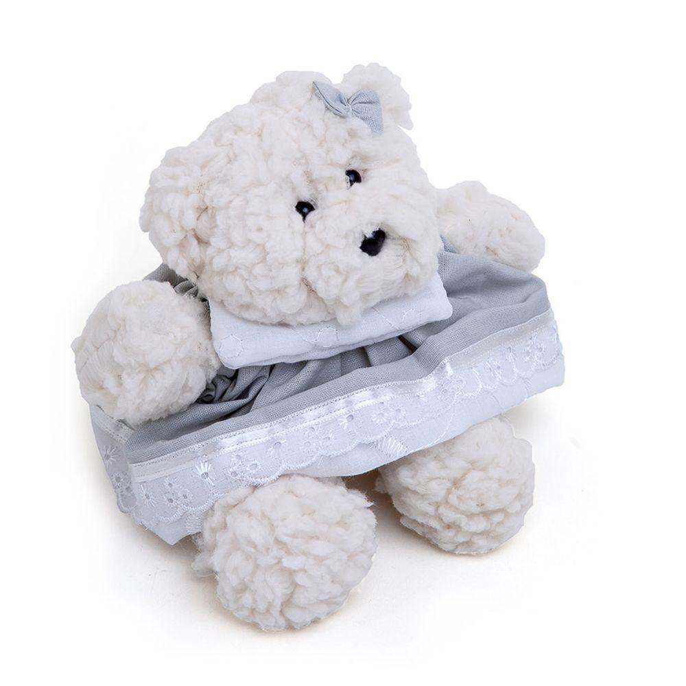 Ursa Dottie Pequena Palha Cinza