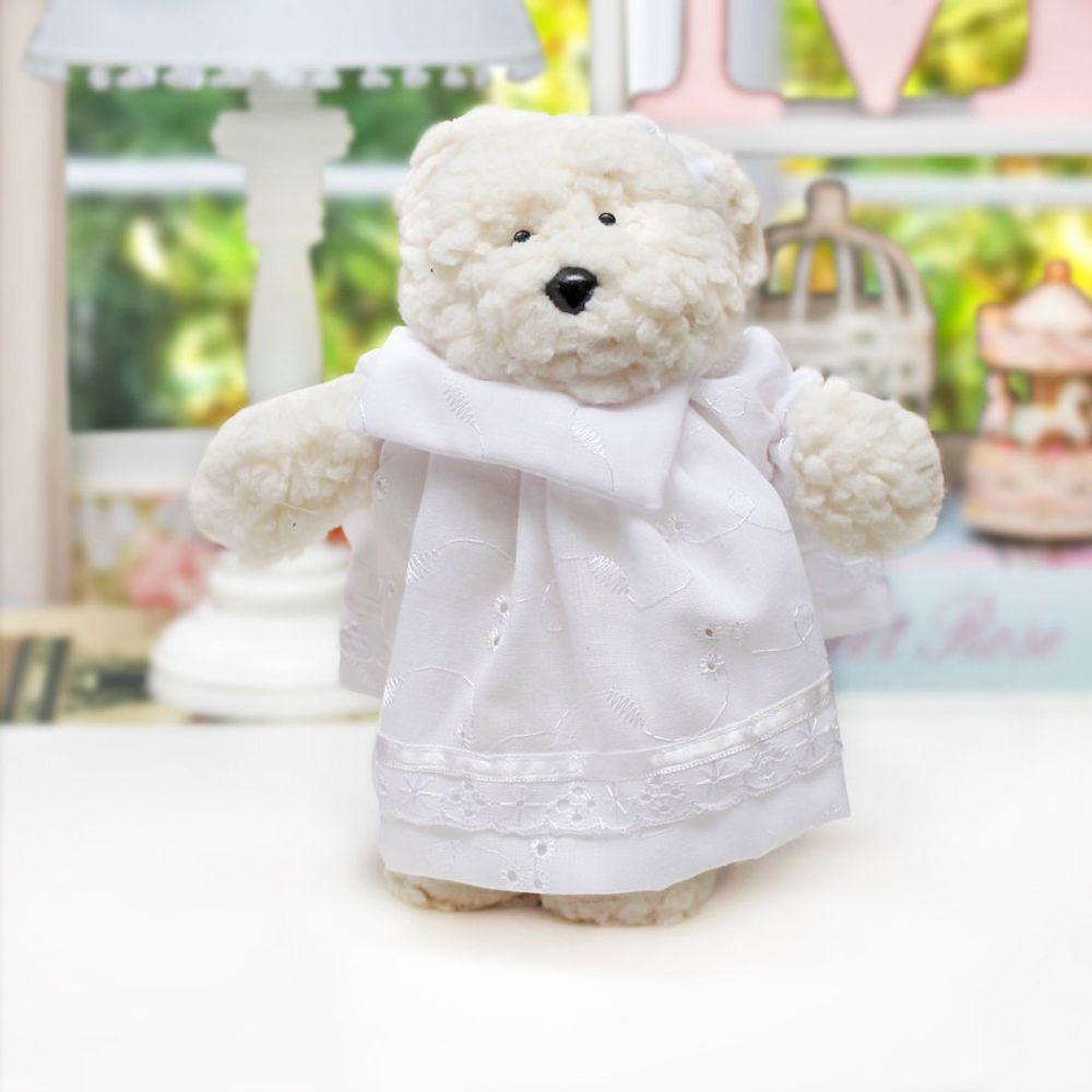 Ursa Dottie Pequena Palha Branco ambientada