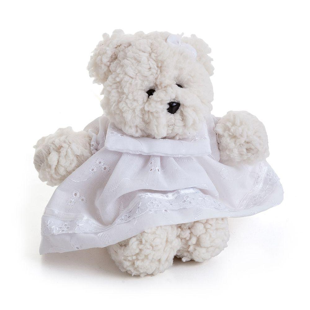 Ursa Dottie Pequena Palha Branco