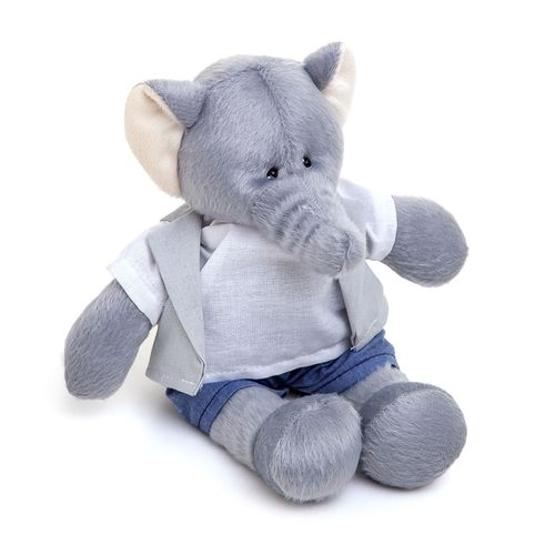 Elefante Pequeno com Colete Cinza