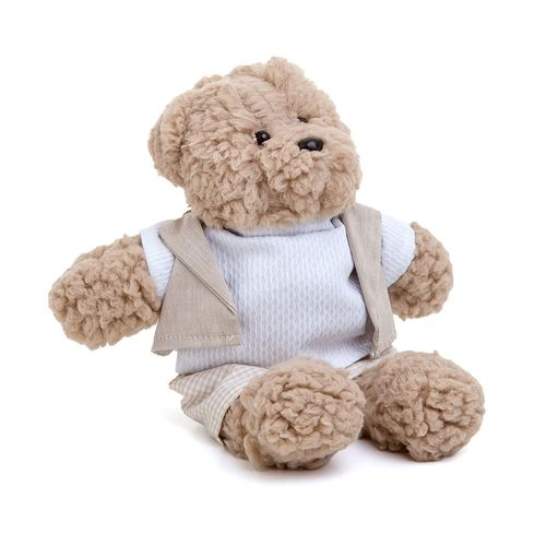 Urso Bob Pequeno Bege Xadrez