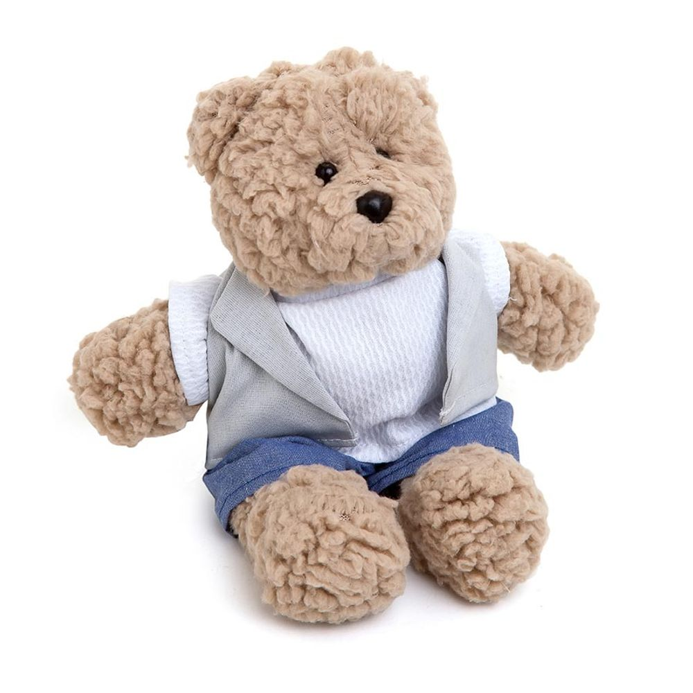 Urso Bob Pequeno Bege Cinza