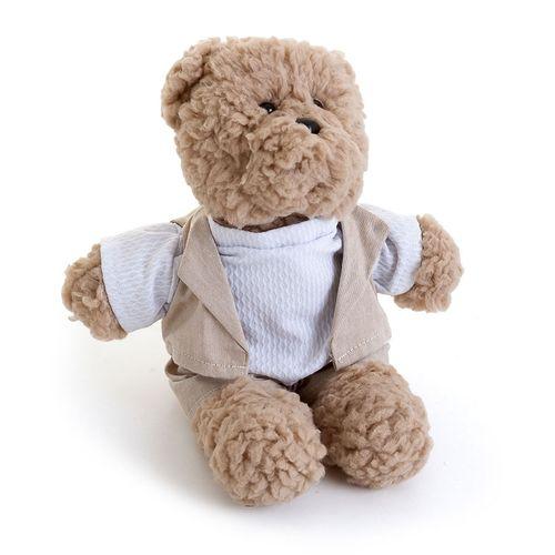 Urso Bob Pequeno Bege Cru