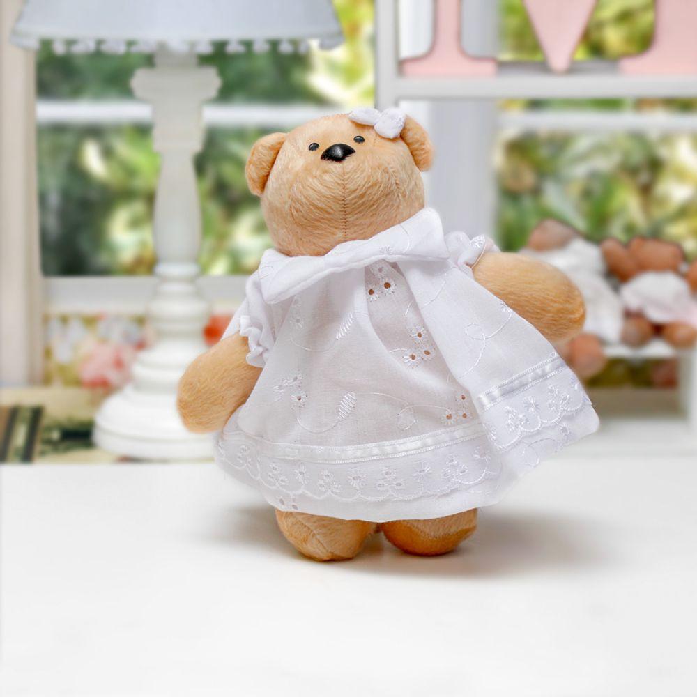 Ursa Bella Pequena Areia Branco ambientada