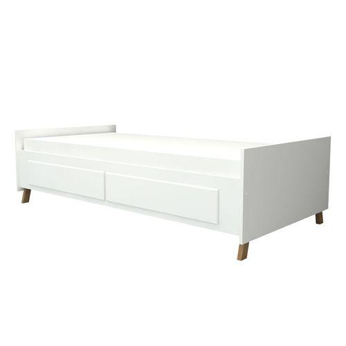 Cama Sofá Ísis com Gavetas Branco e Mel 1