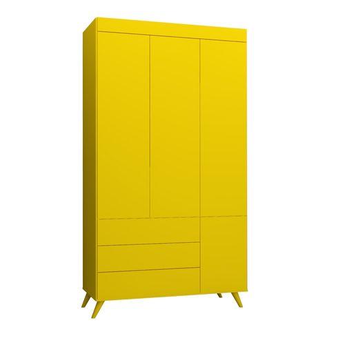 Guarda Roupa Infantil Viena Amarelo Sol 1
