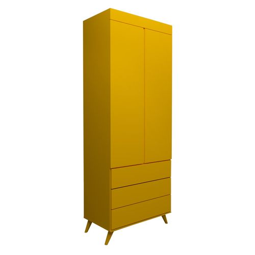 Guarda Roupa Infantil 2 Portas Viena Amarelo Sol 1
