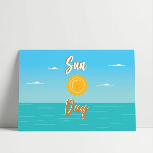 GRAVURA SUN DAY LARANJA