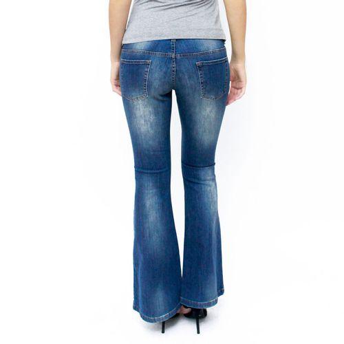 Calça Jeans para Gestante Flare costas