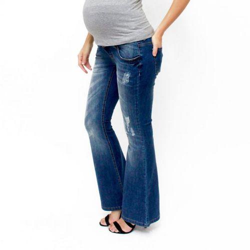Calça Jeans para Gestante Flare