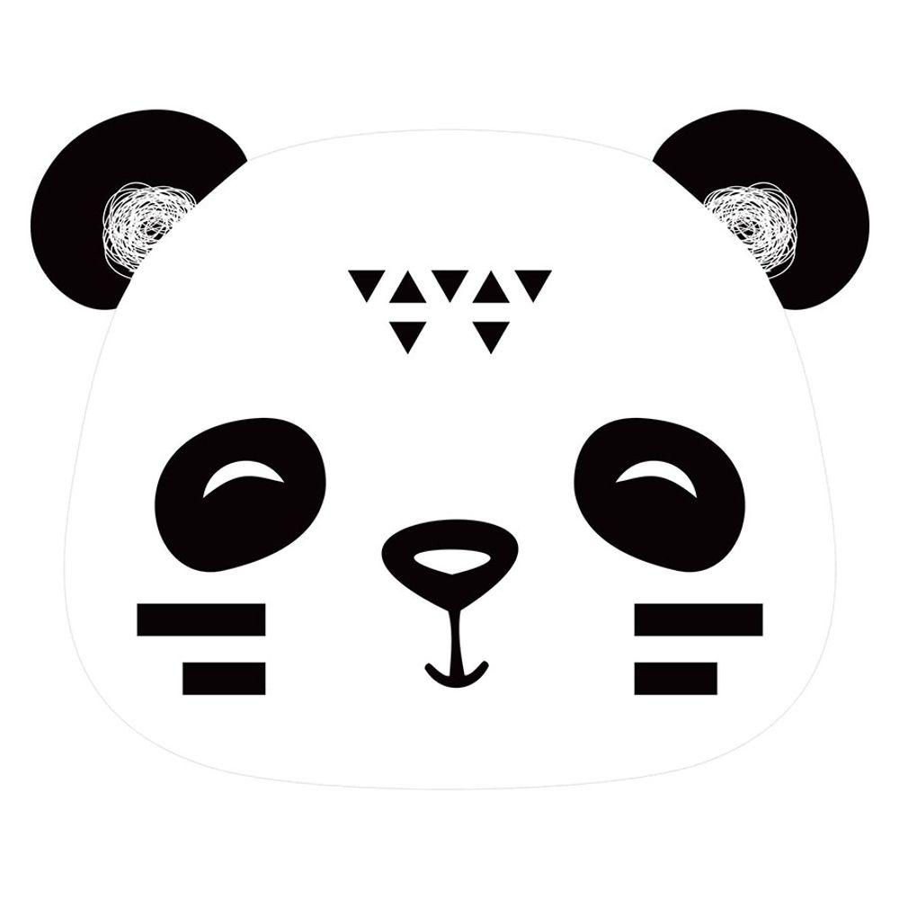 Tapete Interativo Vinílico Formato Panda Preto 100X120cm