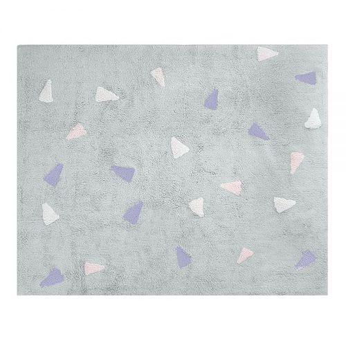 Tapete Cinza Confetti Rosa 160x120cm – Nina & Co 2