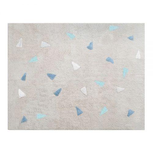 Tapete Lavável Bege Confetti Azul Nina & Co
