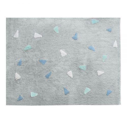 Tapete Lavável Cinza Confetti Azul Nina & Co
