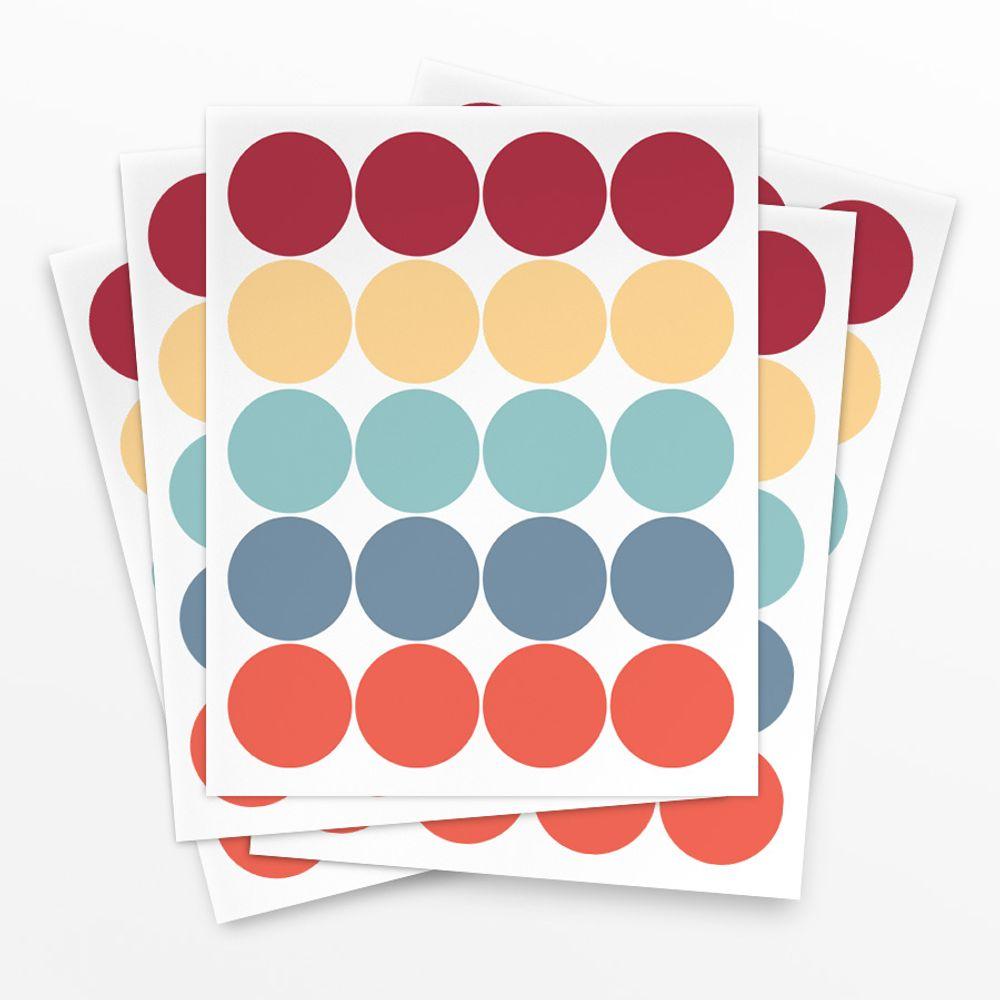 Cartela de Adesivo Poá Vermelho - 100 unidades cartela