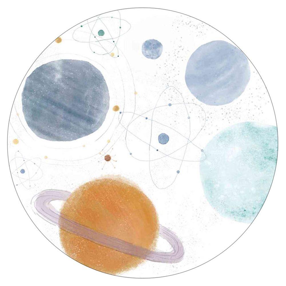 Tapete Estampado Vinílico Planetas Redondo 100cm