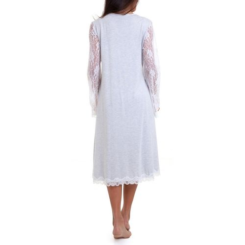 Camisola Maternidade com Robe Agata Mescla robe costas