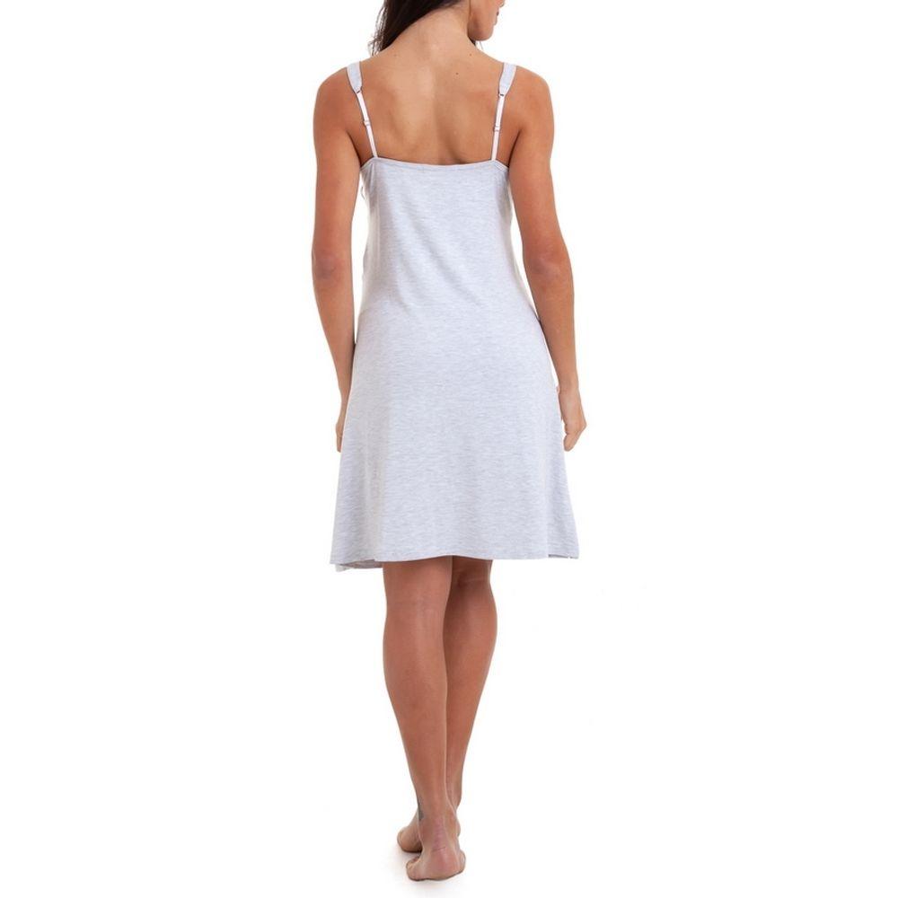 Camisola Maternidade com Robe Agata Mescla camisola costas