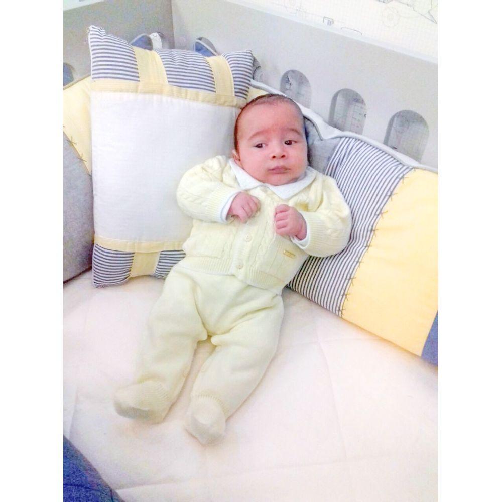 Saída de Maternidade Tenista Amarelo bebê
