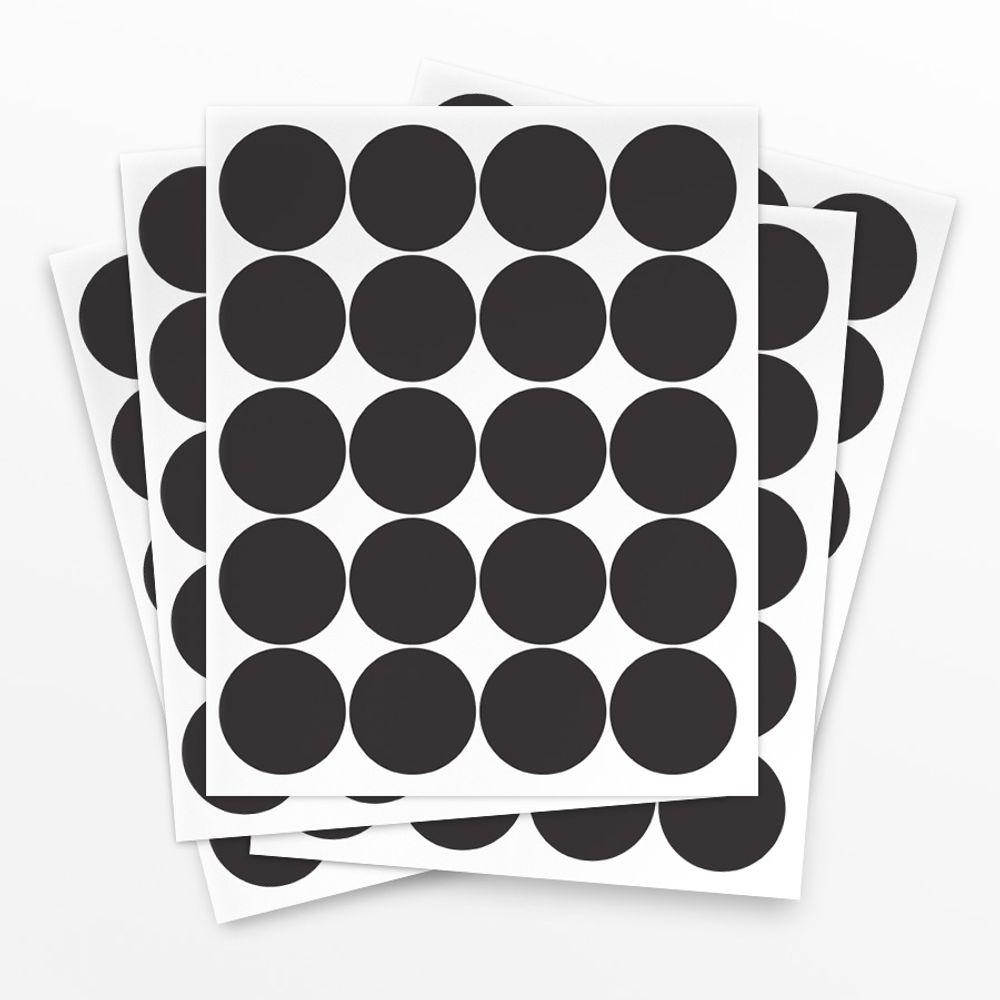 Cartela de Adesivo Poá Preto - 100 unidades cartela