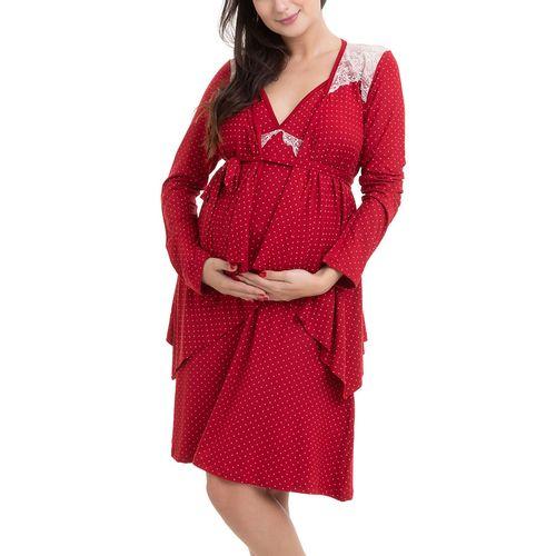 Camisola Maternidade com Casaco Jade Vinho