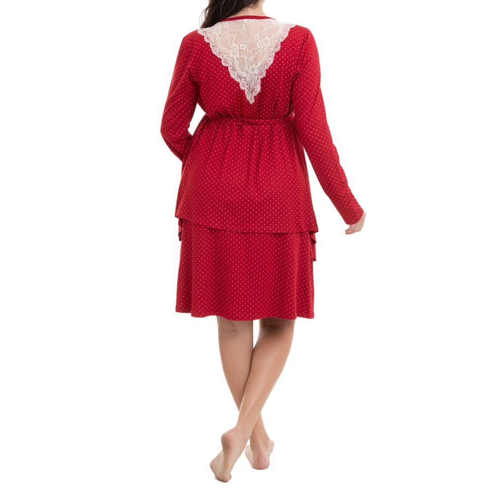 Camisola Maternidade com Casaco Jade Vinho costas