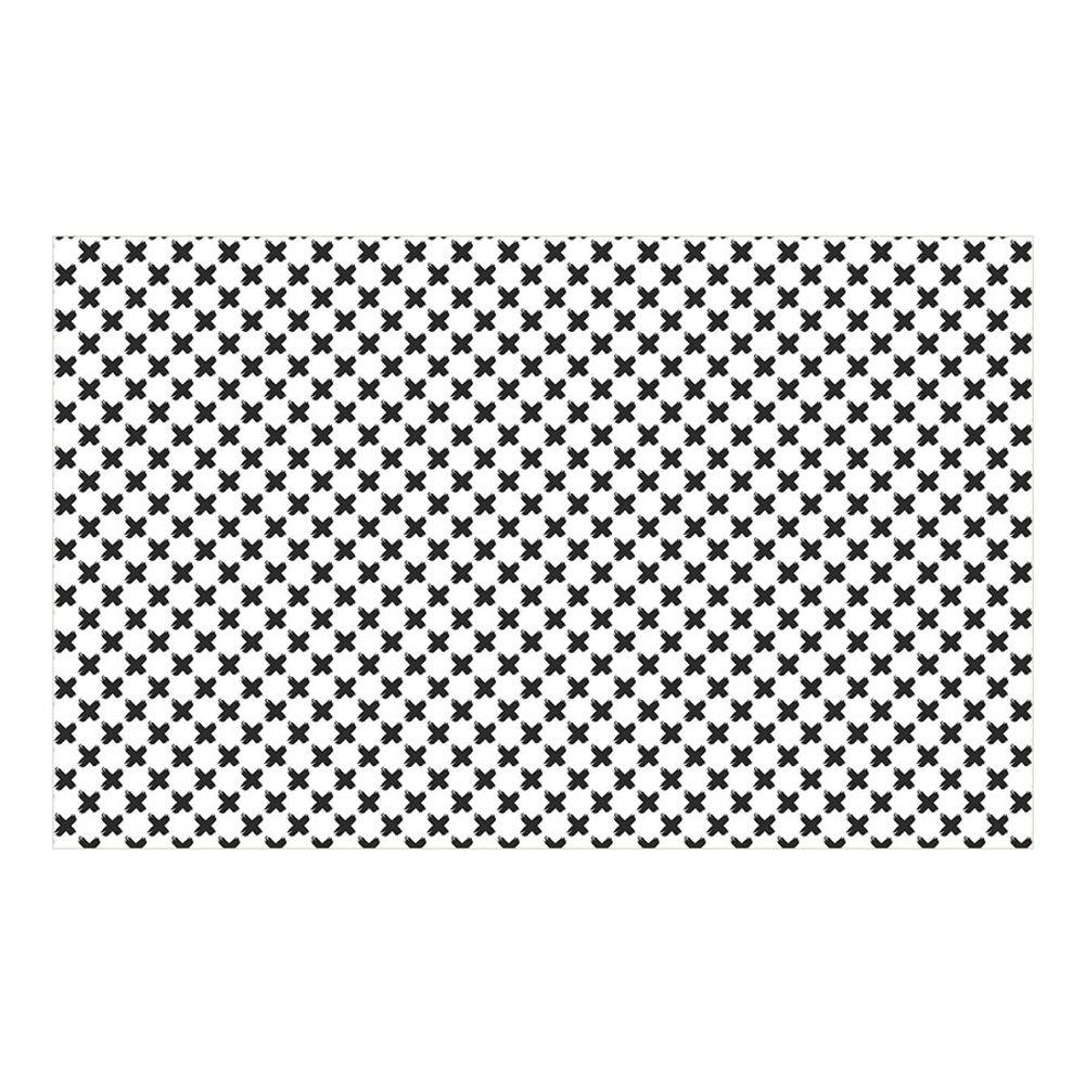 Tapete Estampado Vinílico X Pincelado Retangular Preto 100X160cm