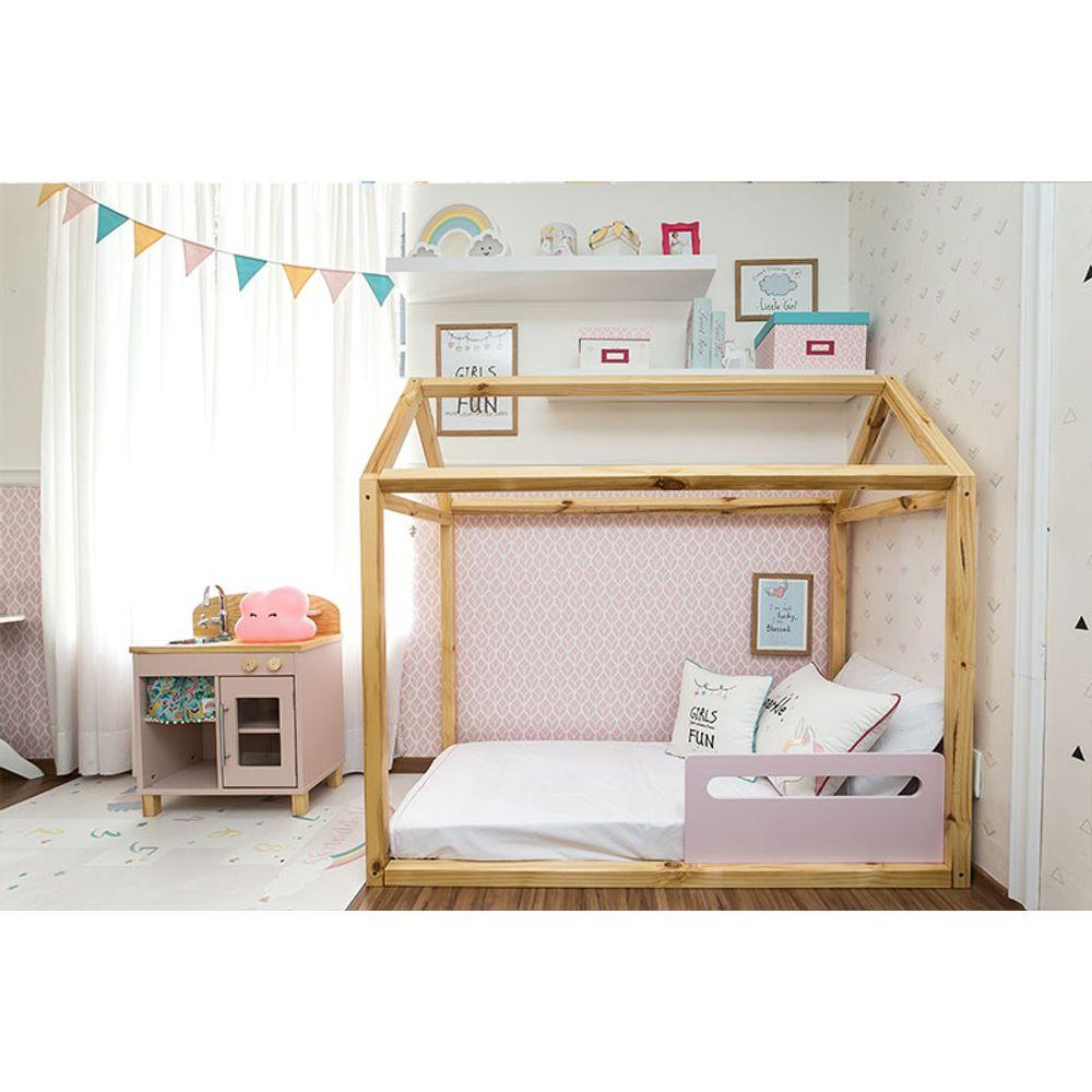 Quarto Montessoriano Unicórnio cama casinha