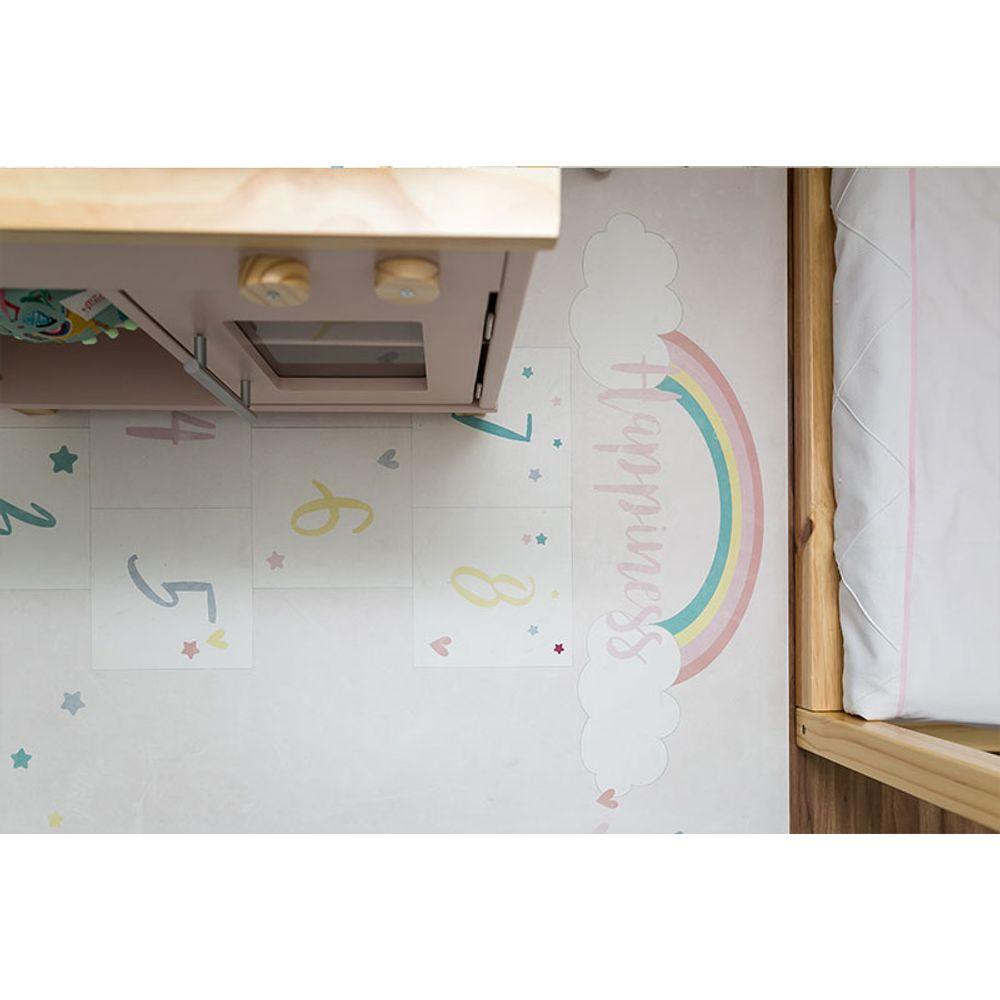 Quarto Montessoriano Unicórnio detalhe tapete