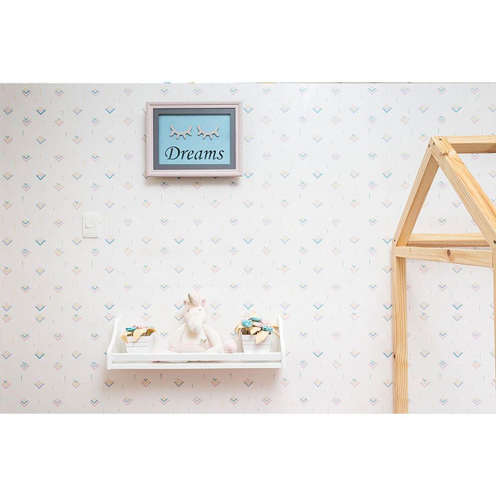 Quarto Montessoriano Unicórnio prateleira porta treco