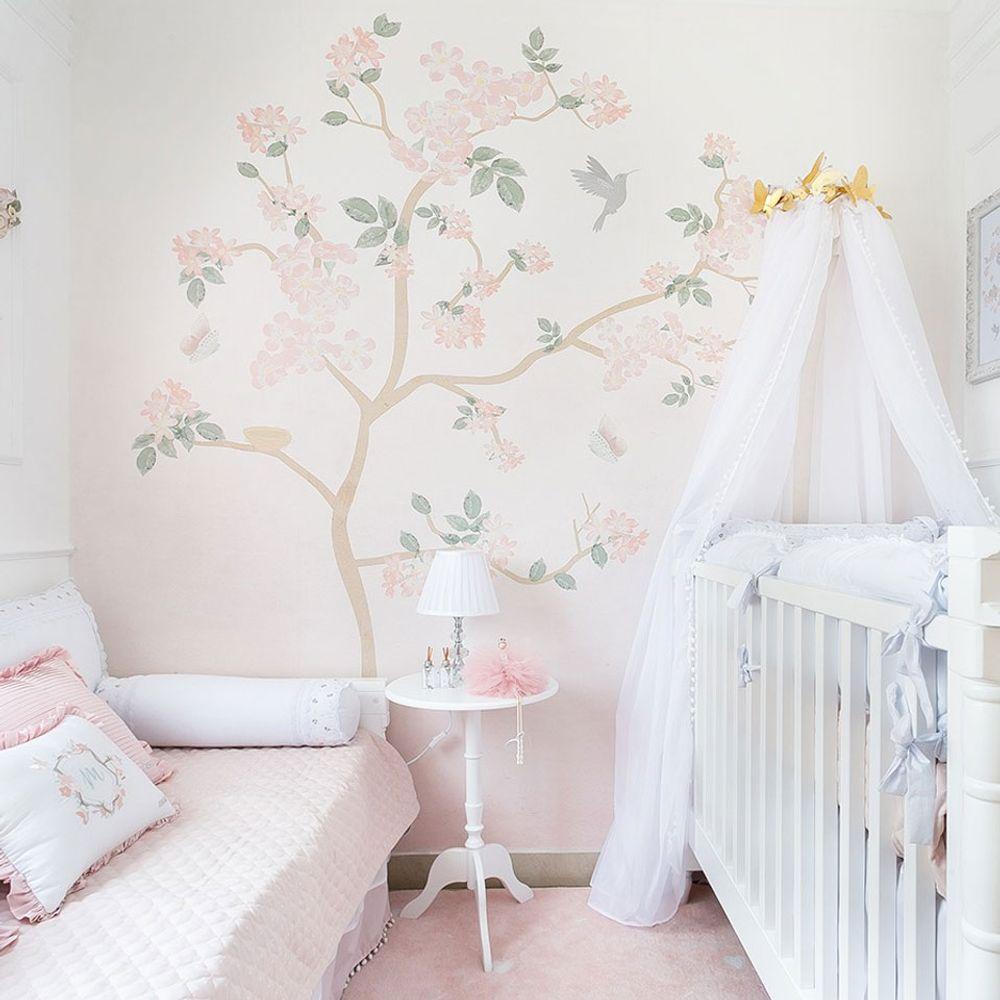 Painel Árvore Liv Degradê Rosa