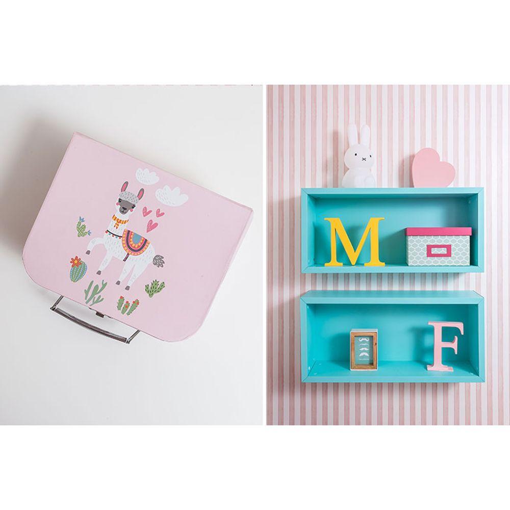 Quarto Montessoriano Menina Raposinha maleta