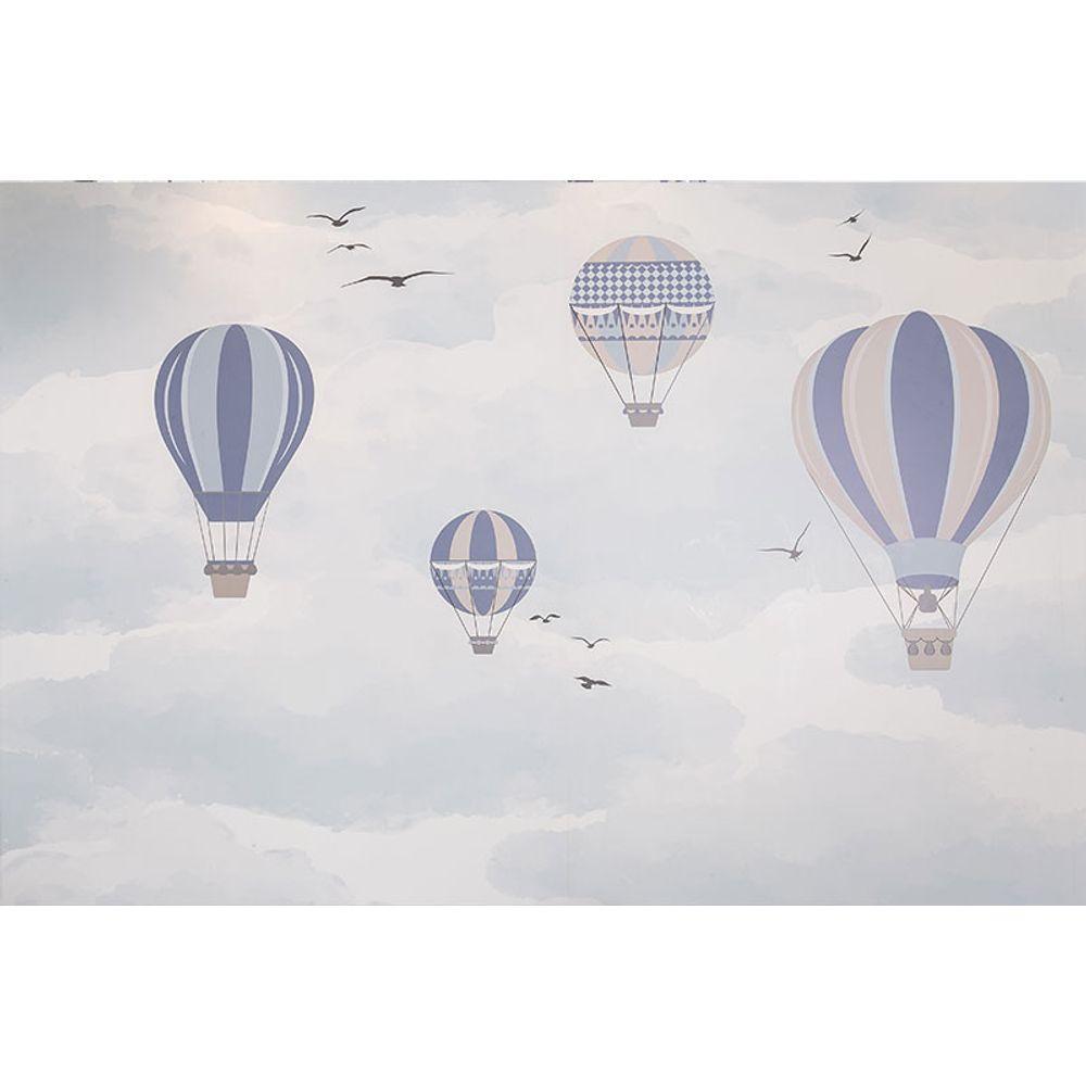 Quarto de Menino: Uma Viagem de Balão! painel