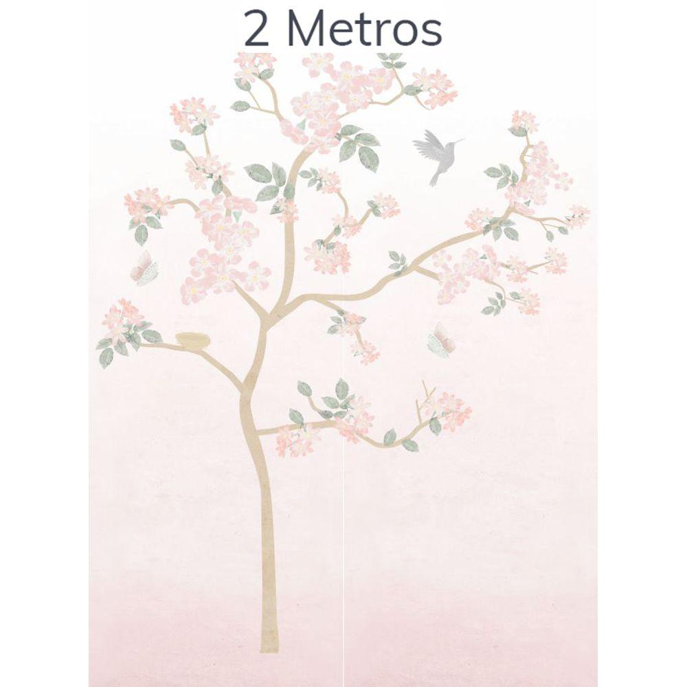 Painel Árvore Liv Degradê Rosa 2m