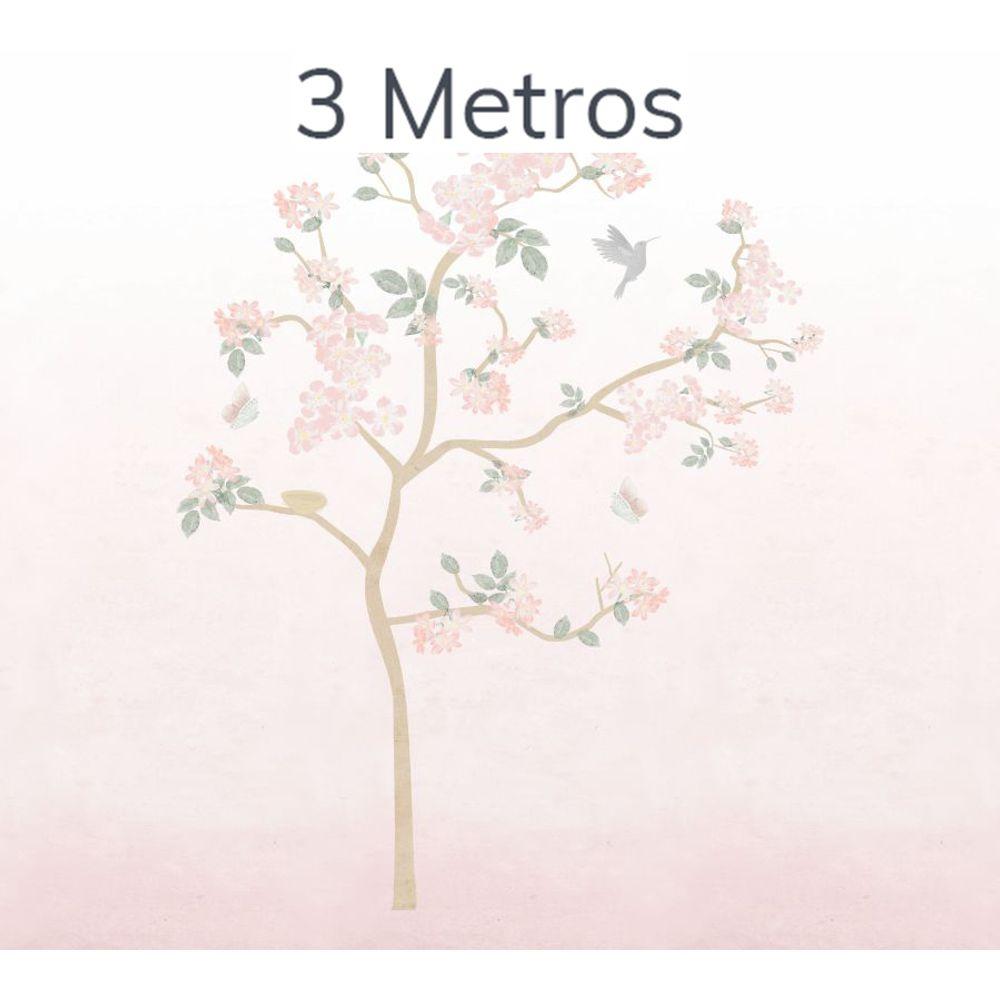 Painel Árvore Liv Degradê Rosa 3m