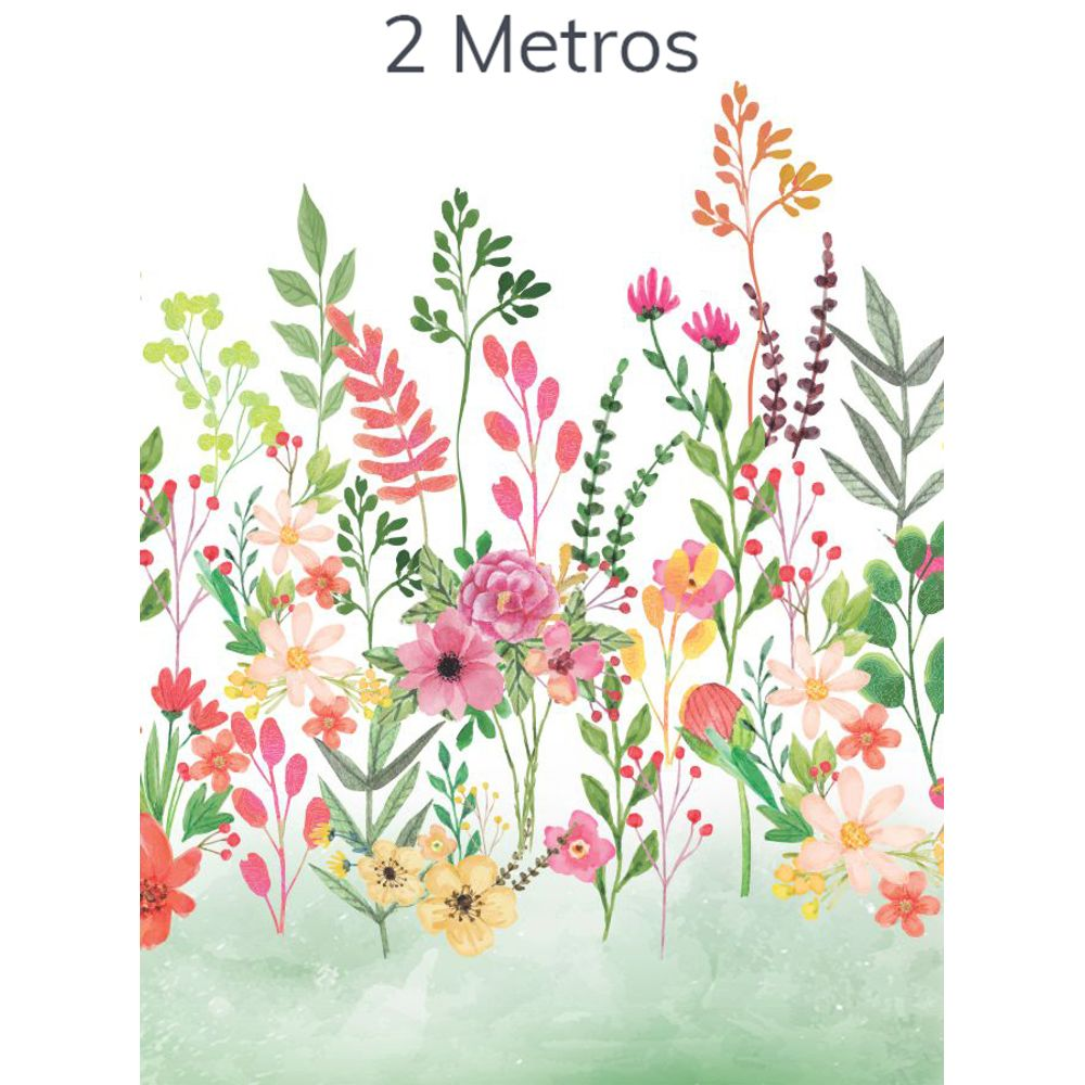 Painel Flores Candy Verde Folha 2m