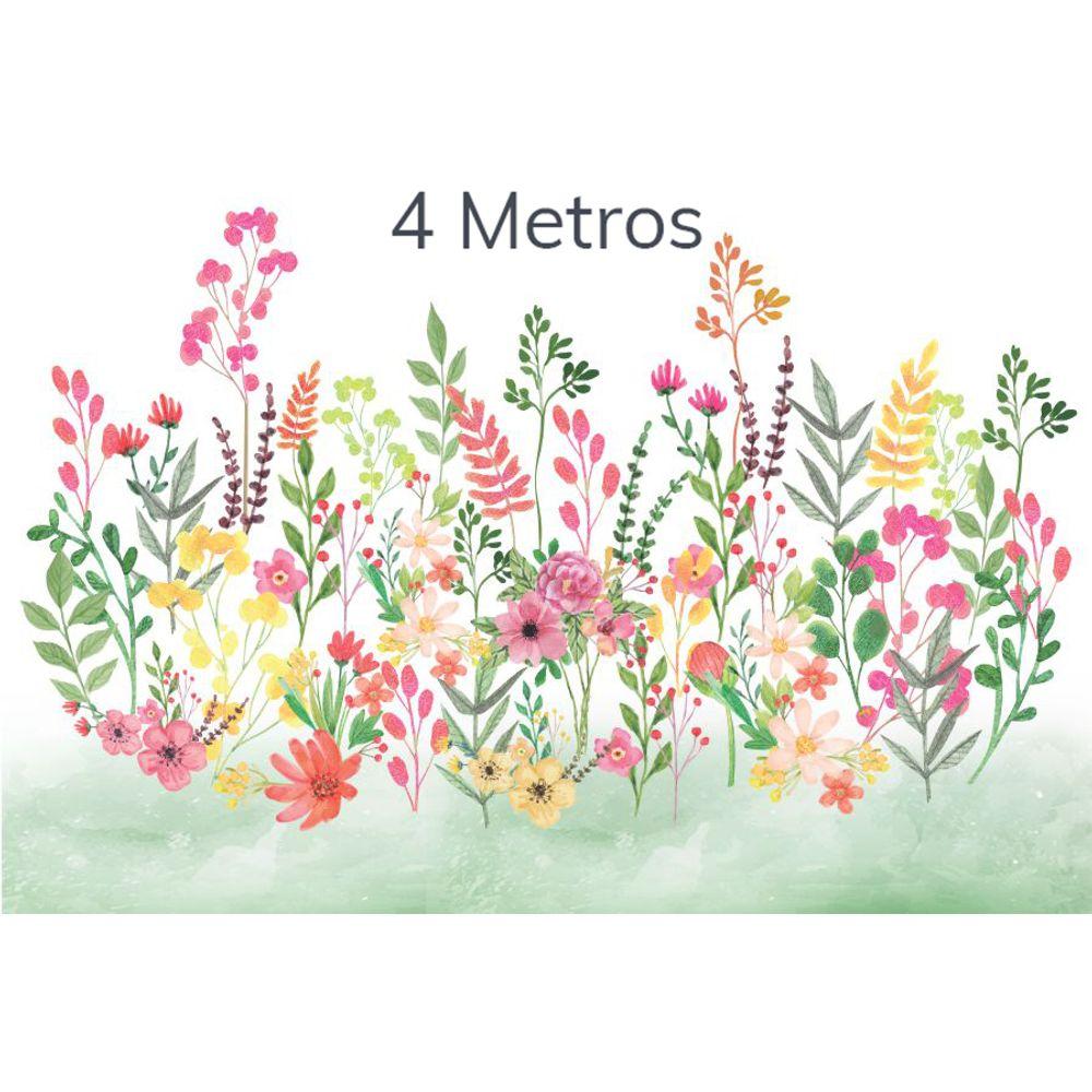 Painel Flores Candy Verde Folha 4m