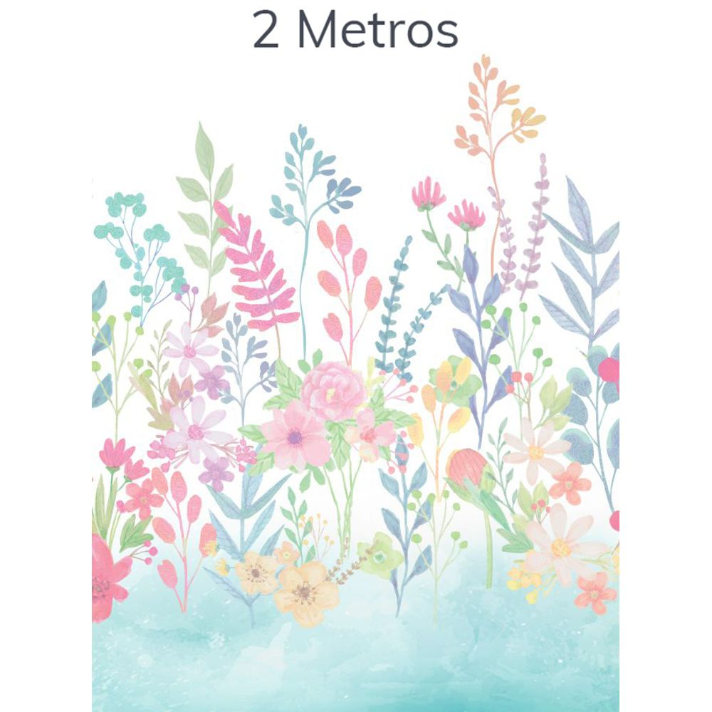 Painel Flores Candy Tifany 2m
