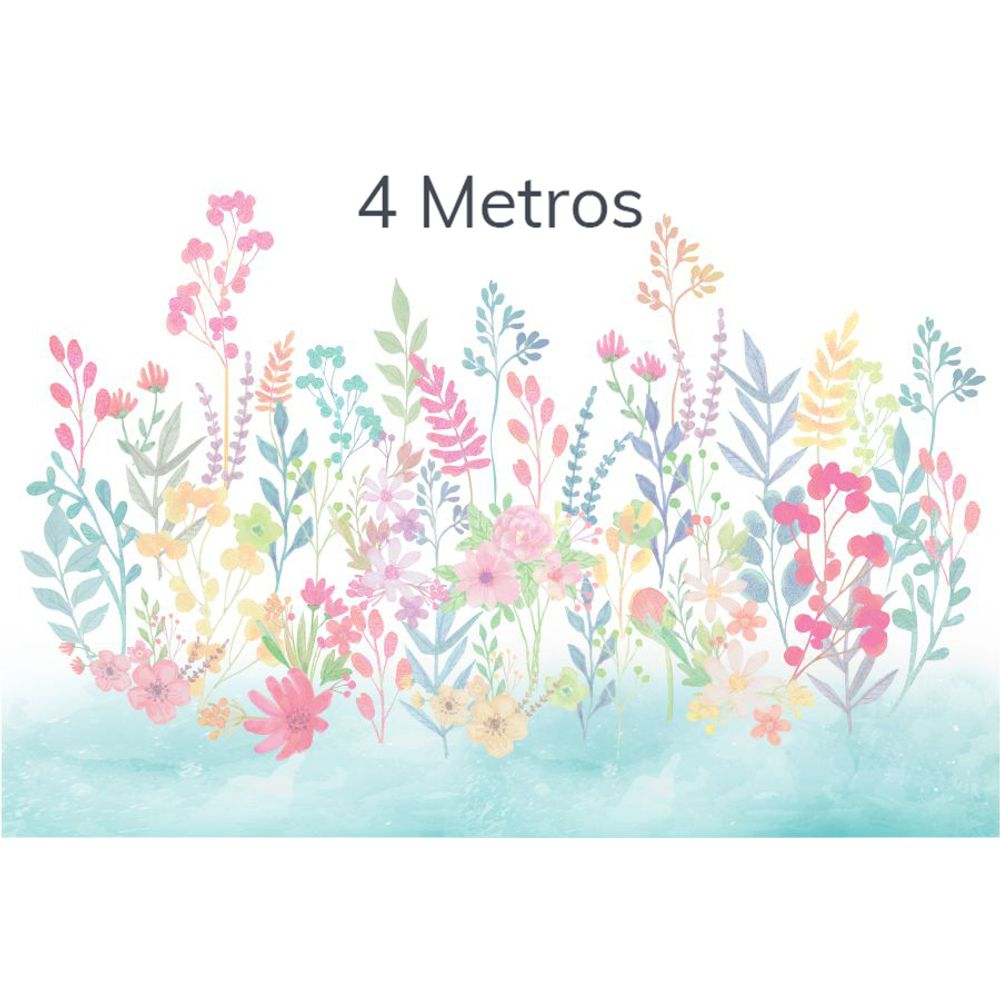 Painel Flores Candy Tifany 4m