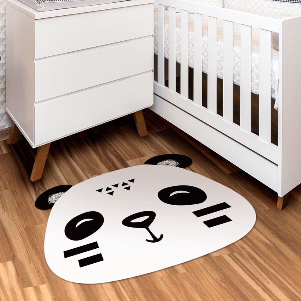 Tapete Interativo Vinílico Formato Panda Preto 100X120cm ambiente