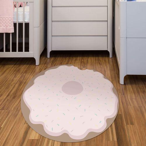 Tapete Interativo Vinílico Formato Donuts 100cm ambiente