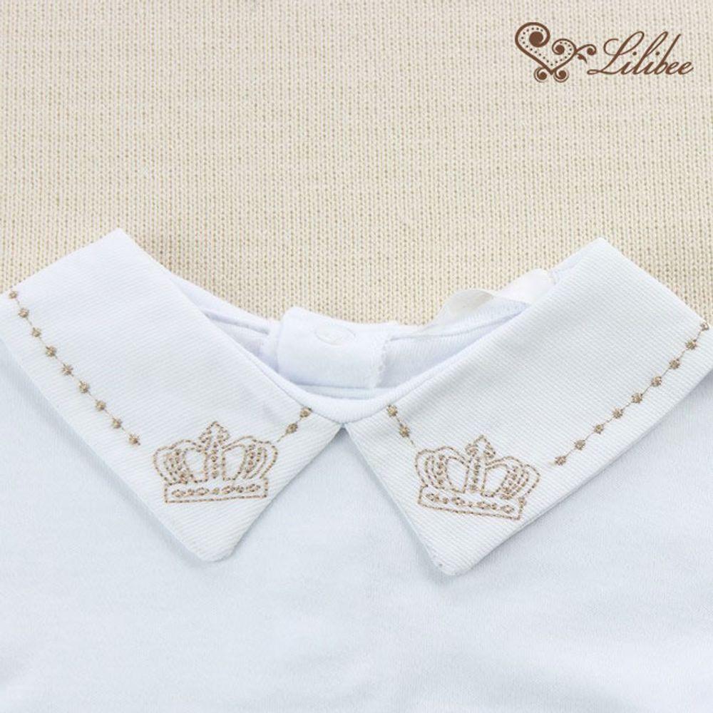 Conjunto Body Fustão Coroa Rei Cappucino