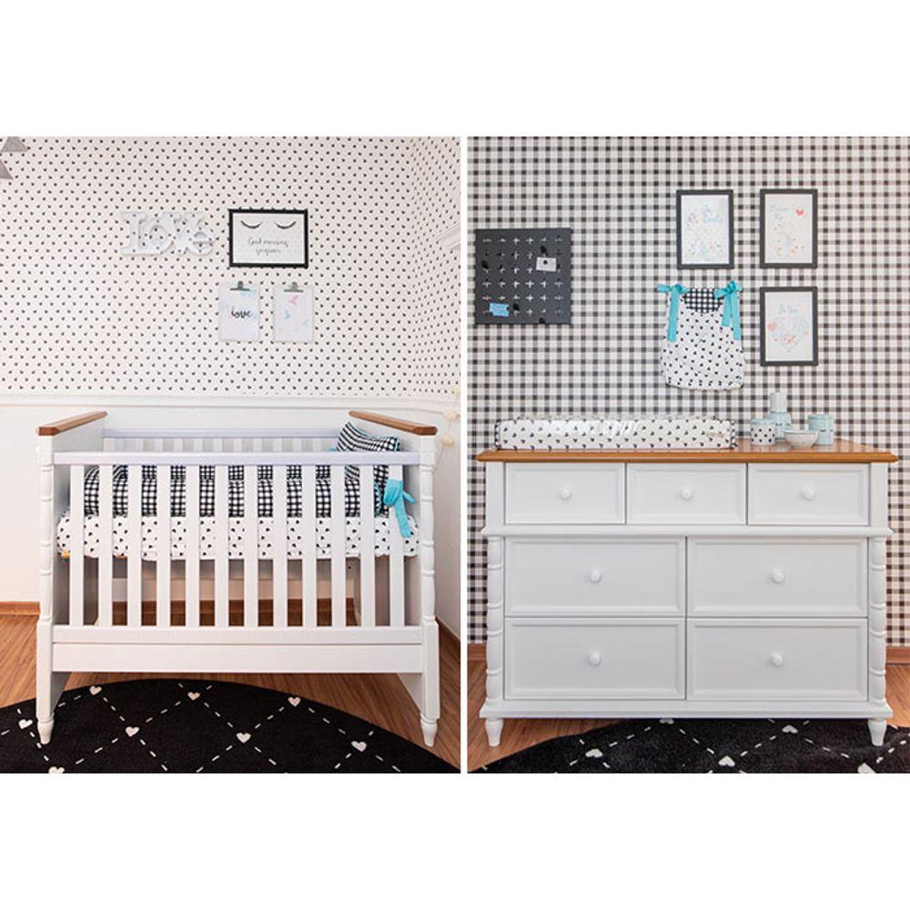 Quarto de Bebê Vichy Tifany móveis