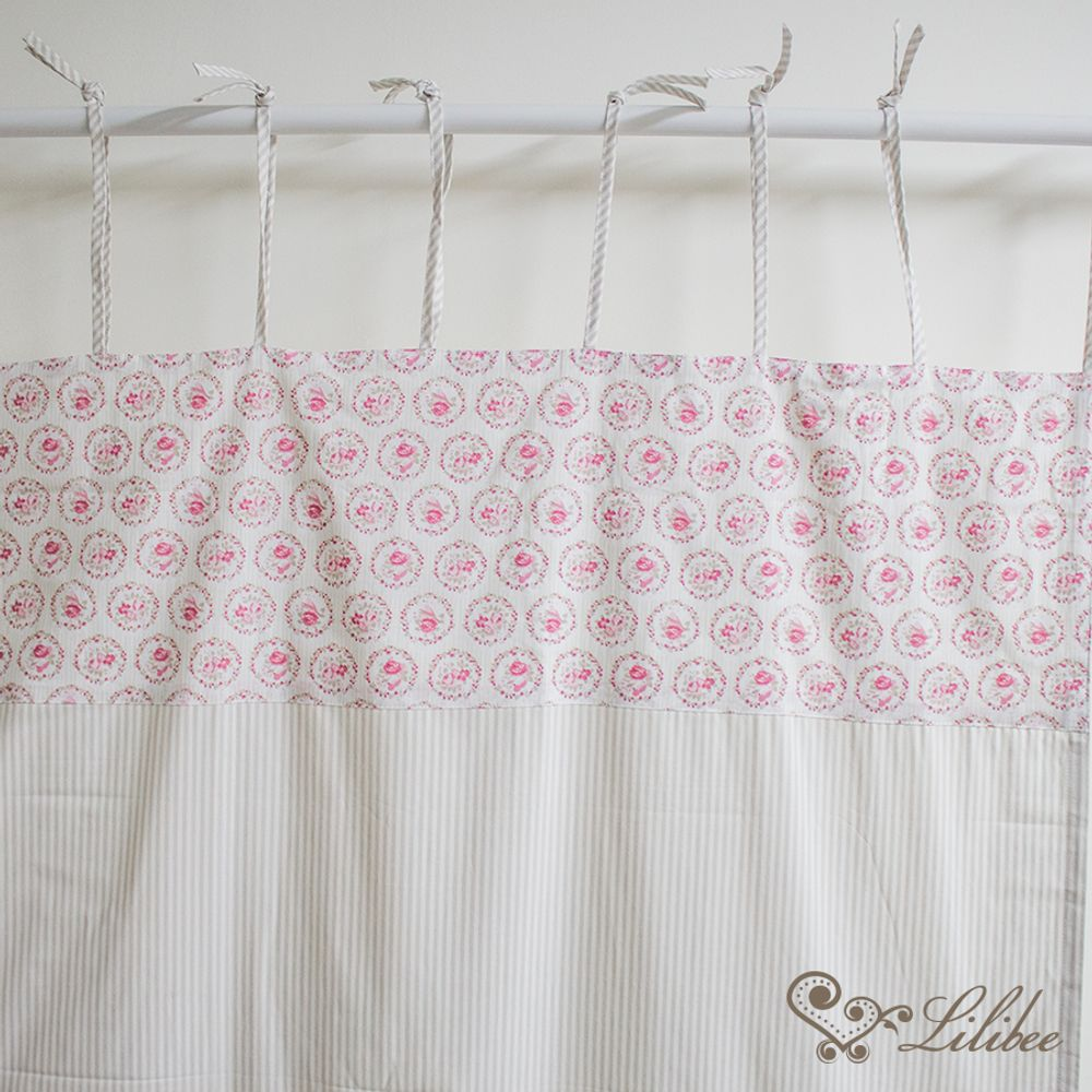 Cortina Flores Rosa