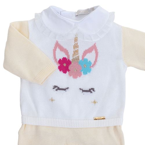 Macacão de Bebê Unicórnio Amarelo - Saída de Maternidade