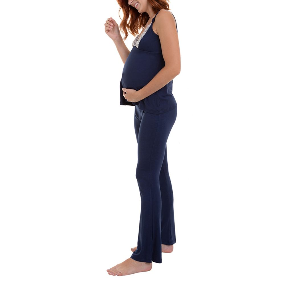 Pijama Maternidade Ayla pijama lado